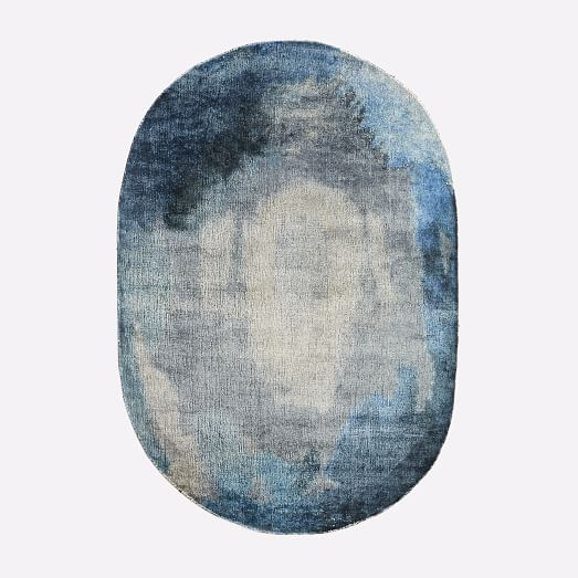 Watermark Rug - Oval (Midnight) | west elm