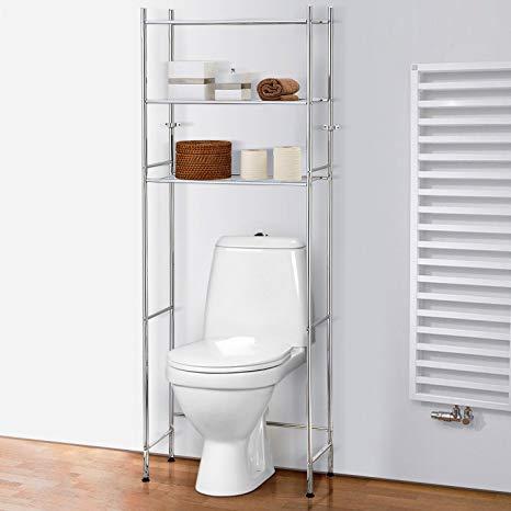 Amazon.com: Tatkraft Roomy Over Toilet Storage Shelves Space Saver