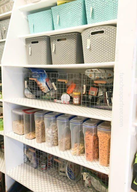 Simple easy kitchen pantry organization tips to make feeding the