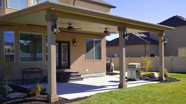 Stucco Trim Patio Covers in Utah | Boyd's Custom Patios