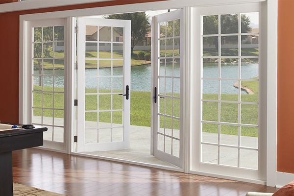 Decorate with patio doors