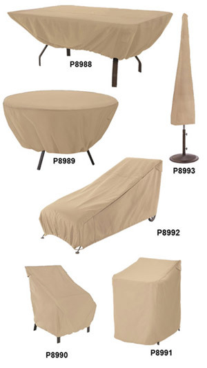 Furniture Covers - Heavy Weight Fabric Protects From Harsh Weather