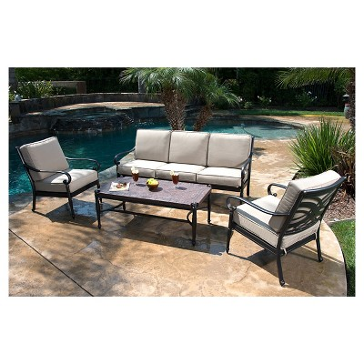 Kent 4-Piece Metal Patio Conversation Furniture Set : Target