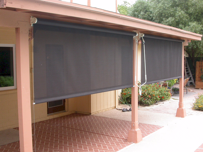 Roll Down Patio Shades | AAA Sun Control