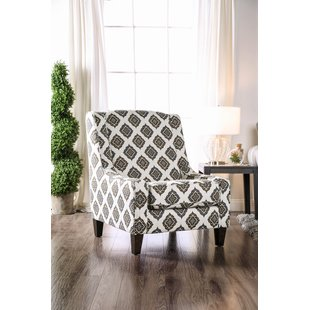 Gray Patterned Armchair | Wayfair