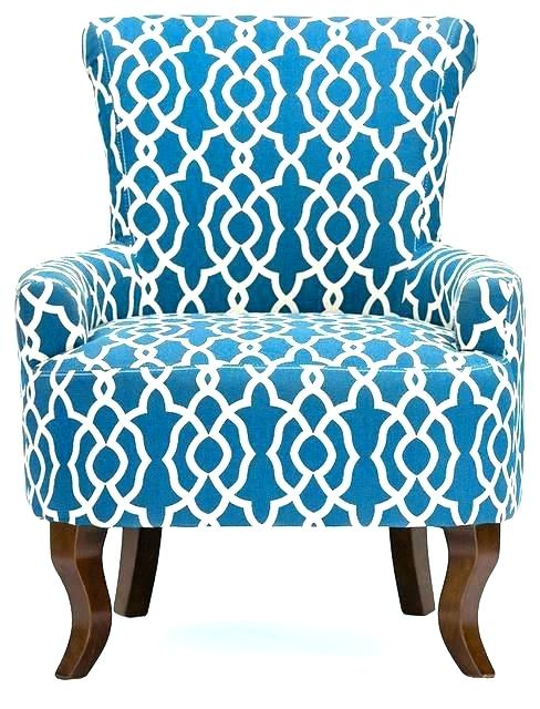 Blue Print Accent Chair Patterned Club Chair Chairs Patterned