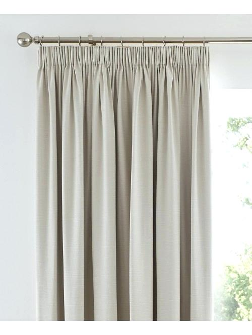 Harmony Thermal Blackout Pencil Pleat Curtains Cream Uk u2013 mindovermodel
