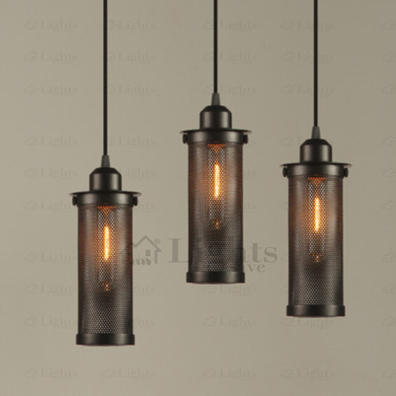 Vintage Black Iron Small Industrial Pendant Lighting