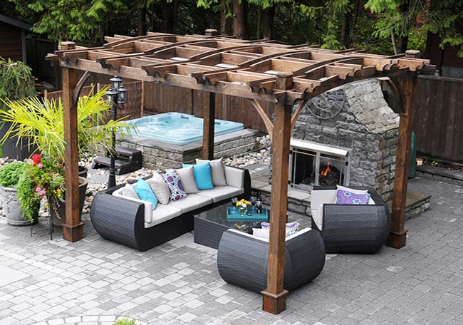 Arched Pergola Kits 10x12 - Outdoor Living Today