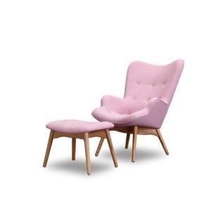 Pink Chair And Ottoman | Wayfair