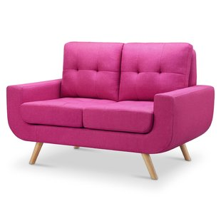 Hot Pink Loveseat | Wayfair