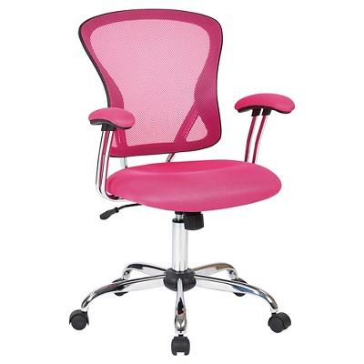 Ave Six Juliana Task Chair Pink Mesh - Office Star : Target