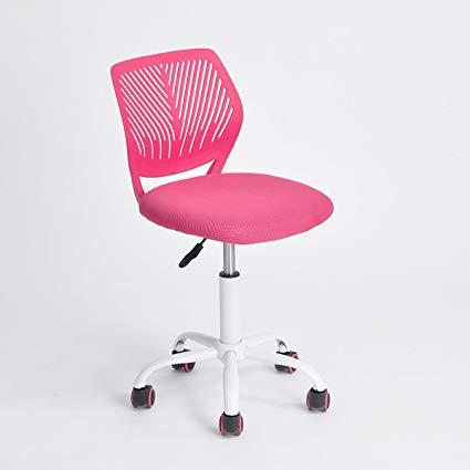 Amazon.com: Pink Office Task Adjustable Desk Chair Mid Back Home