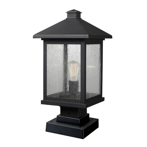 Z Lite Portland Oil Rubbed Bronze 19 Inch One Light Outdoor Pier