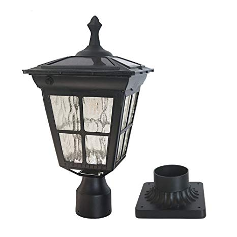 Kemeco ST4311AQ LED Cast Aluminum Solar Post Light Fixture with 3