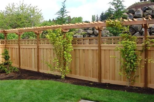 60 Gorgeous Fence Ideas and Designs | shells stuff | Backyard