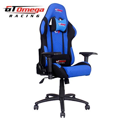 Amazon.com: GT Omega PRO Racing Office Chair Blue and Black Fabric