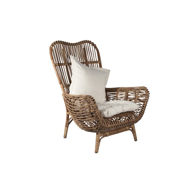Round Back Rattan Chair & Reviews | AllModern