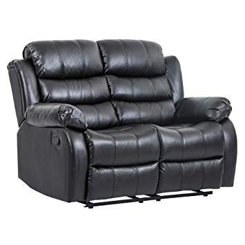 Amazon.com: Recliner Sofa Love Seat Sofa Leather Loveseat Reclining