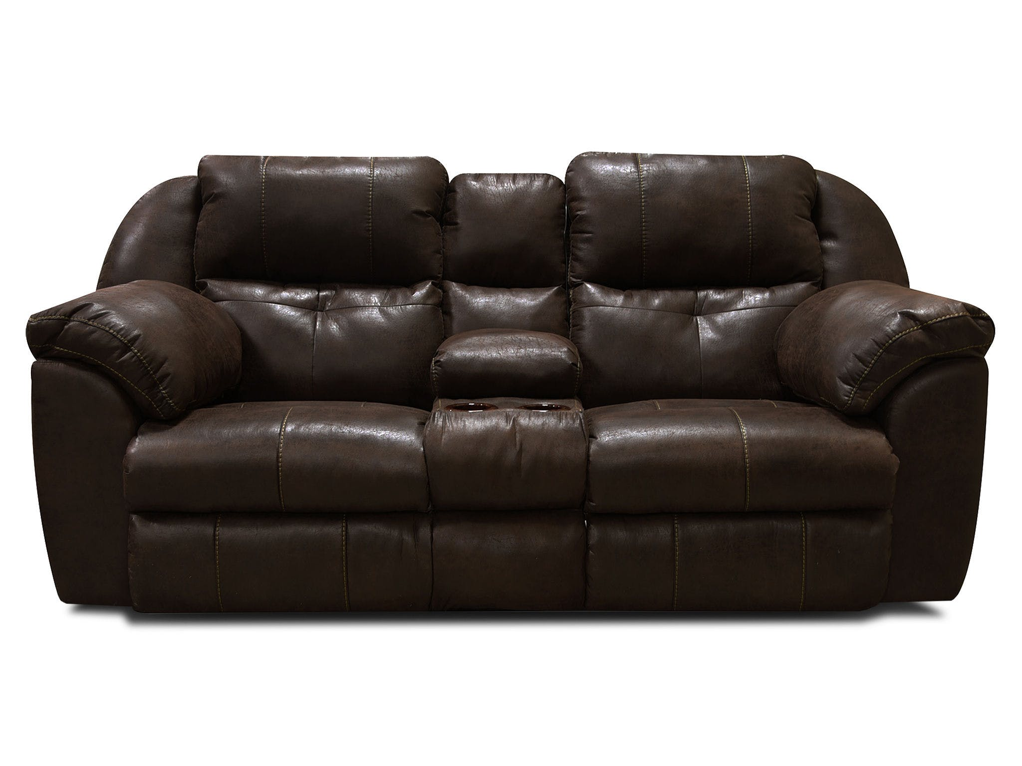 England Living Room Double Reclining Loveseat Console EZ6D85H