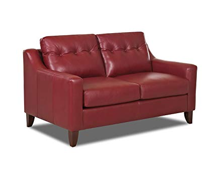 Amazon.com: Klaussner Audrina Leather Loveseat, Red