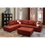 Having a red sectional couch in your   living room