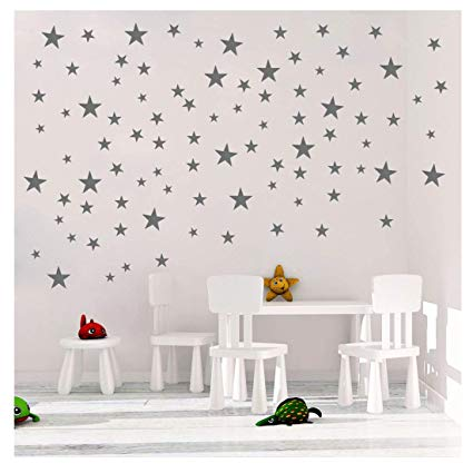 Amazon.com: DCTOP Stars Wall Decals (124 Decals) Wall Stickers
