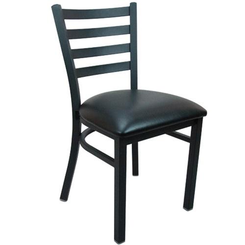 Advantage Black Metal Ladder Back Restaurant Chair | Restaurant