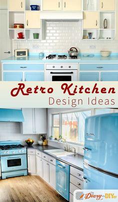 54 Best Retro Kitchen Design Ideas images | Vintage kitchen, Retro