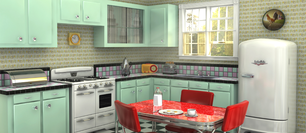 How to create a retro kitchen