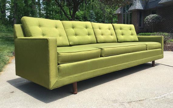 Mid Century Modern Sofa Mid Century Sofa Vintage Sofa Retro | Etsy