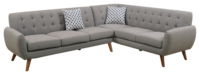 Modern Retro Sectional Sofa - Midcentury - Sectional Sofas - by