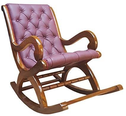 Tayyaba Enterprises Pure Sheesham Wooden Rocking Chair: Amazon.in