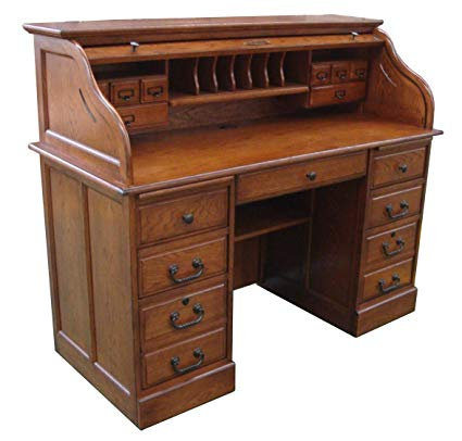 Amazon.com: Chelsea Home 54 in. Mylan Roll Top Desk in Burnished