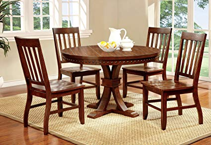 Amazon.com - Furniture of America Castile 5-Piece Transitional Round
