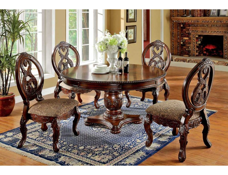 Gordon Classic Round Dining Table Set