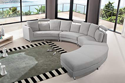 Amazon.com: Velago Rossini Light Grey Modern Design Circular