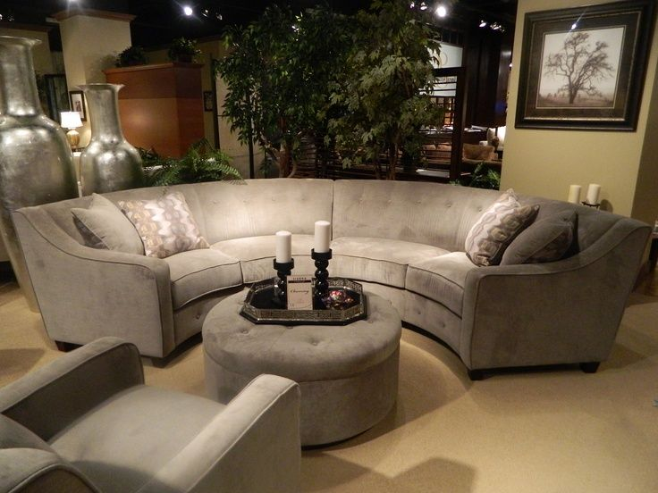 Circular Sectional Sofa | New Gray Silver Round Sectional. I loved
