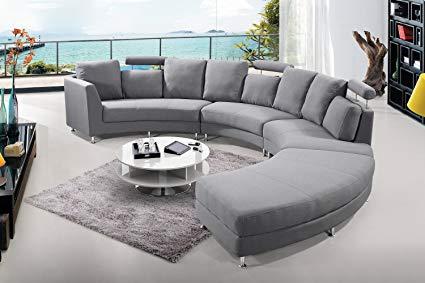 Amazon.com: Velago Rossini Dark Grey Modern Design Circular