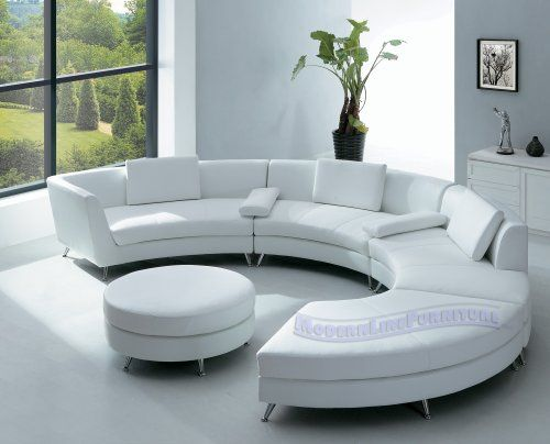round white leather sectionals |  Rounded Sofa Interior with Off