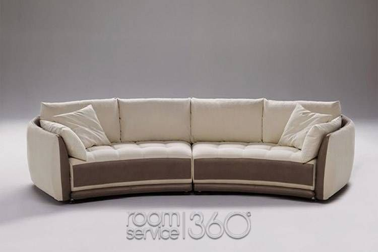 Circular Sectional Sofa | Planet Contemporary Italian Leather Round