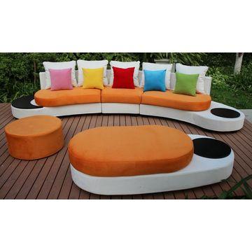 new design half round sofa furniture mixed colours fabric sofa sets