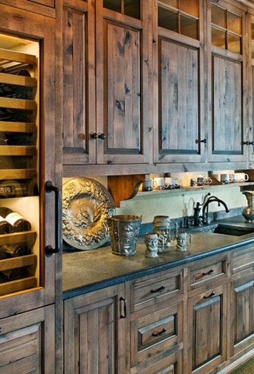 Rustic kitchen cabinets | Rustic & Lodge Looks