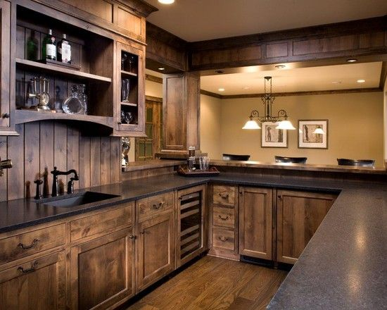 15 Interesting Rustic Kitchen Designs | Dream Home | Wood kitchen