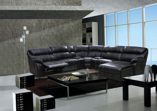 China Very Big Sectional Sofa Sets, Recliner Corner Sofa - China
