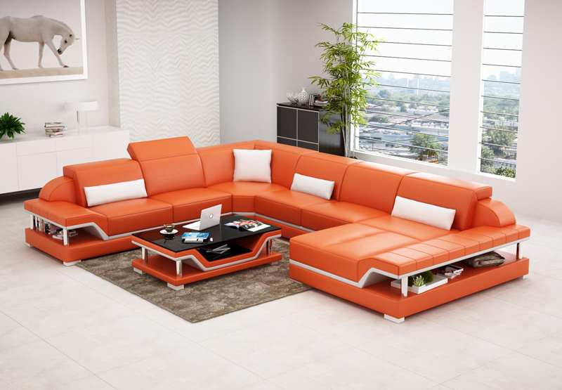 2016 new design modern sectional corner sofa sets G8004 -in Living