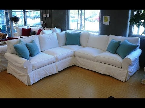 Slipcovers for Sectional Sofa - YouTube