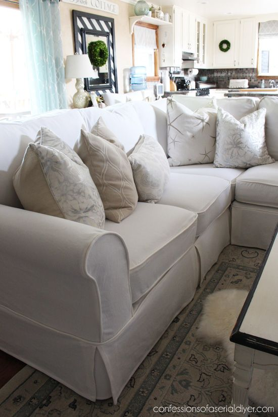 Design Interior. Slipcover Sectional Sofa - Best Home Design