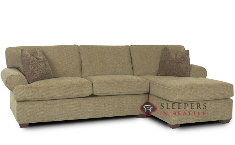 Customize and Personalize Tacoma Chaise Sectional Fabric Sofa by