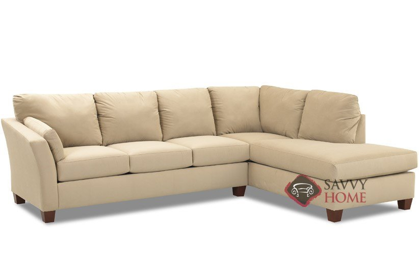 Sienna Fabric Sleeper Sofas Chaise Sectional by Savvy is Fully